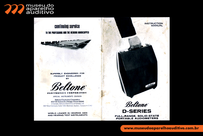 Instruction Manual Beltone D-Series